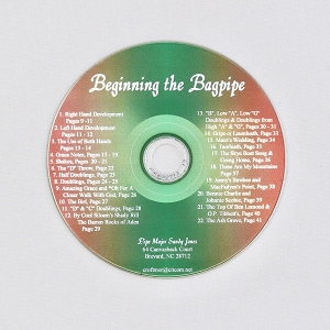 Cd to Accompany Beginning the bagpipe