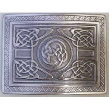 Antique Silver Highland Swirl Buckle