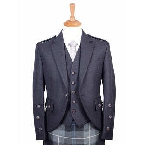 Braemar Charcoal Tweed Jacket and Vest