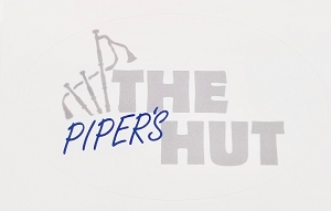 Pipers Hut Oval Sticker