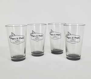 Pipes and Pints Glass - Set of Four