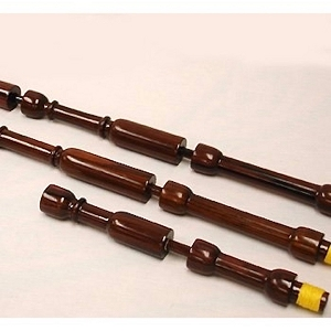 Gibson Cocobolo Fireside Pipes in the key of B Flat. No Mounts In Stock