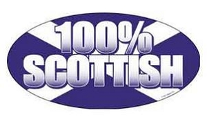 Oval 100% Scottish - Sticker