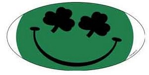 Oval Irish Happy Face - Sticker