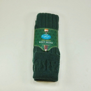 Bottle Green Wool Kilt Hose