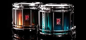 Premier Snare, Tenor, and Bass Drums