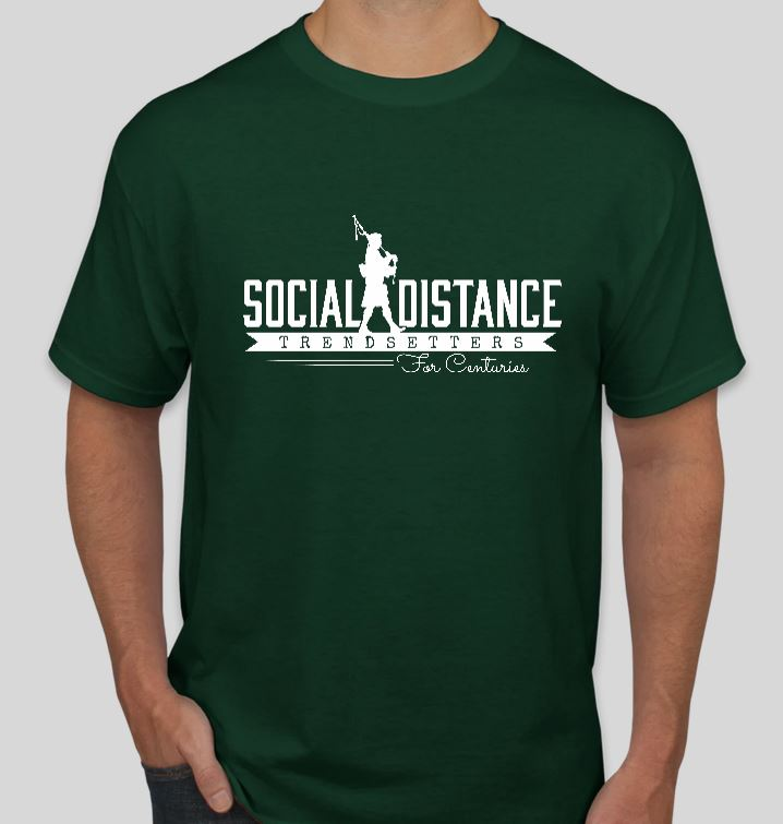 Large Social Distance Trendsetter T Shirt in Green