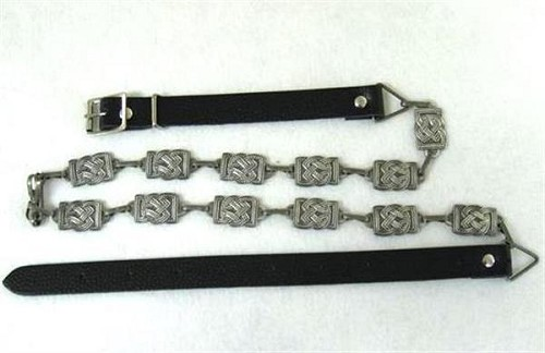 Celtic Sporran Chain and Belt. Antique