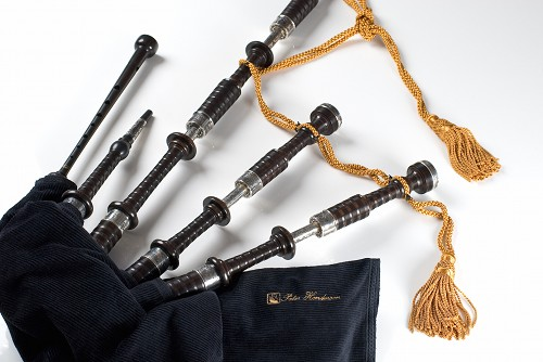 Peter Henderson PH2 Bagpipes with Antiqued Metalwork