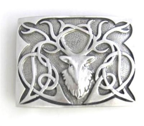 Pewter Stag Buckle with Matte Finish